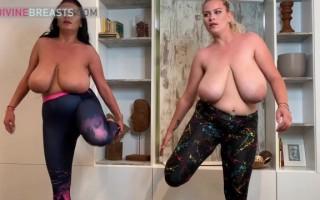 Erin Star & Helen Star Busty Aerobics Babes