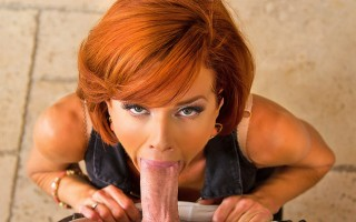 Veronica Avluv orders herself a gigolo.  When Johnny shows up asking for directions she plays along, has him come inside, gives him a little wine and starts banging his brains out.  After Johnny cums down her throat Veronica shows him out.  That's when th