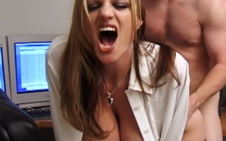 Kelly seduces her boss into fucking her in the office after everyone's gone home for the day.
