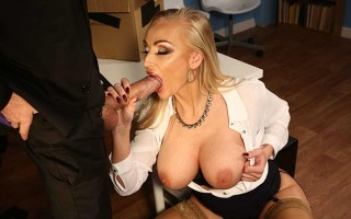 Busty boss Kayla Green catches Danny stealing