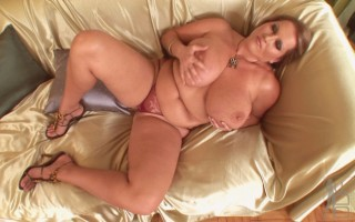 Huge tits and pussy rubbing
