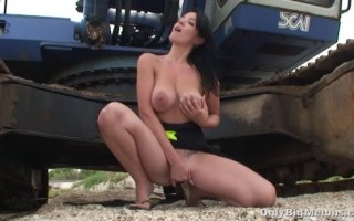 Adrianne Black plays with her huge udders and juicy wet cunt