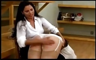 A spanking for being rude