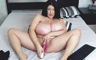 ugly and fat cam-bitch with monster tits