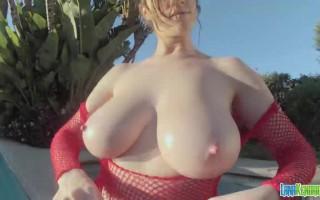 Lana\'s big boobs and small bikini tops