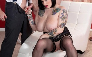 busty tattooed woman Scarlet LaVey gets fucked