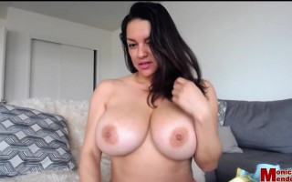 Monica Mendez Unleashed Revealing Her Big Jugs and Small Nipples