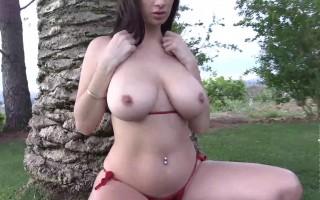 Cara Ruby big natural boobs upclose