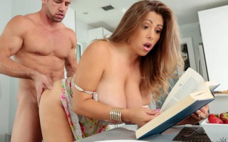 Breakfast and sex with big breasted Alessandra Miller