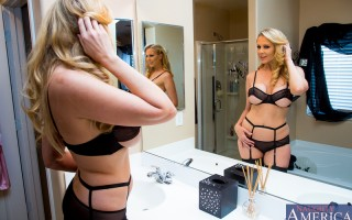 It's fun to fuck ��� when your husband's not home. That's Julia Ann's motto, and it always works because she's always happy. This time around she calls Bill and tells him to head her way since the other half isn