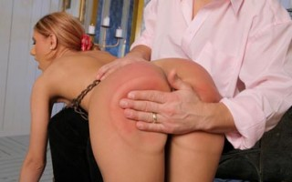 Sexy Crystal gets corporal punishment & gives good head