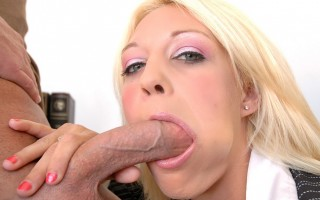 Mrs. Chase is upset with Will for lying about being at a funeral during a test, and she also caught him cheating during the make up test, so she's going to give him one of two choices, go to the Dean's office, or fuck her for a good grade!
