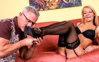 Christoper Clark Is Crazy Over Valentina's Elegant Feet