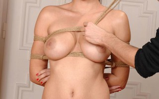 Sexy Brunette Zafira Tied Up And Bound In Intricate Knots