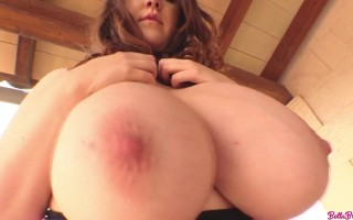 Busty Bella Brewer Up Close Showing Her Puffy Pink Nipples