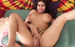 Indian bitch with huge fake tits gets rammed hard POV style