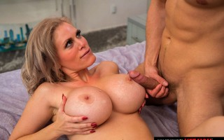 Busty MILF Casca Akashova gets some young cock