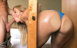 Sara Jay big ass against the shower