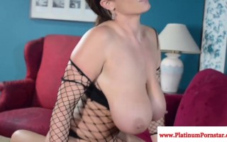 Eva Notty jizzed on her tits