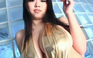 Busty asians posing monster boobs in luxury dresses