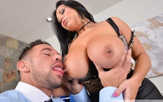 Dirty wife Sheridan Love fucks her boss