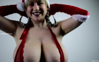 Christmas joy with mega busty Samanta Lily