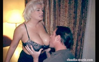Big tit blonde gets mouth to jug resuscitation