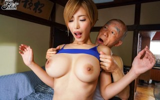 Slim and busty Japanese babe Mio Kimijima gets fucked by old man